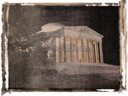 jefferson memorial in der nacht