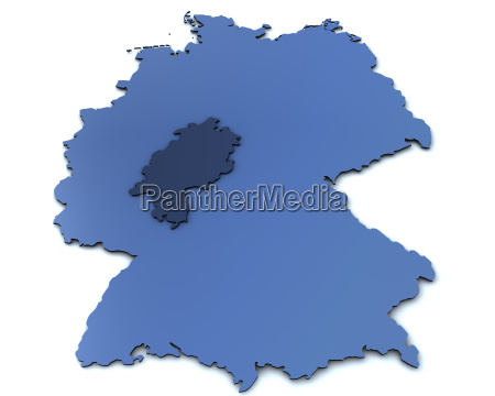 map of germany hesse