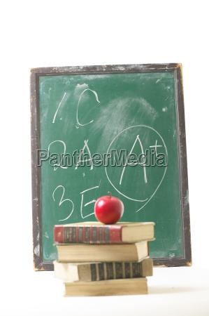 fruit apple book blackboards a0001tc002565 education