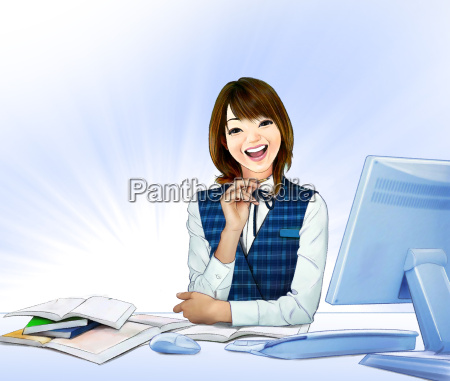 woman smile commercial model body language