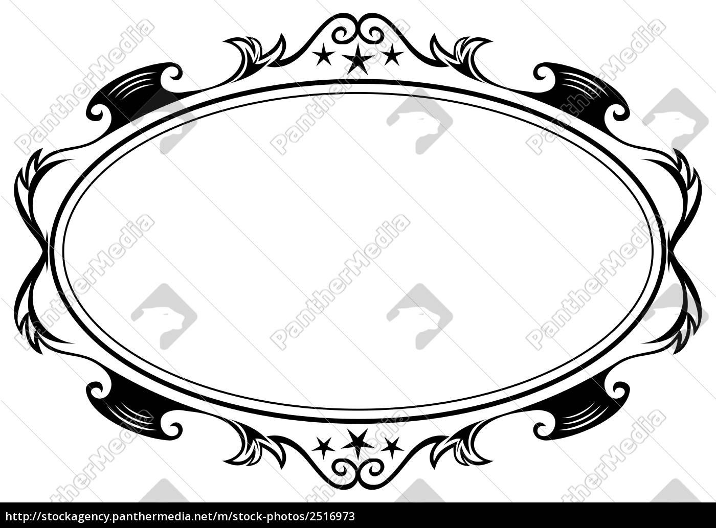 antique ovalen rahmen - Stockfoto - #2516973 - Bildagentur PantherMedia