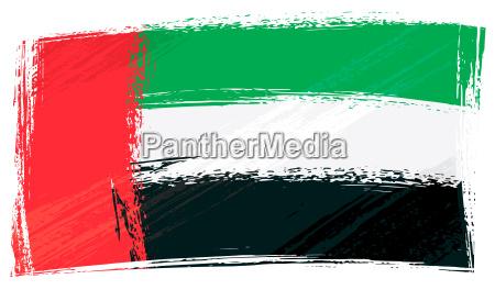 flagge grunge vereinigte arabische emirate