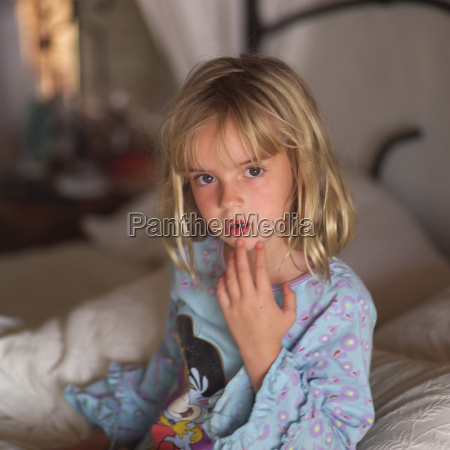 six year old blond child