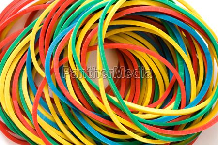 mehrfarbige elastische baender