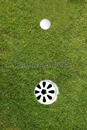 golf ball waiting for a short