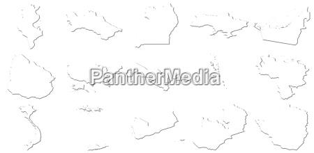 tunesien zimbabwe 3d weisse karten