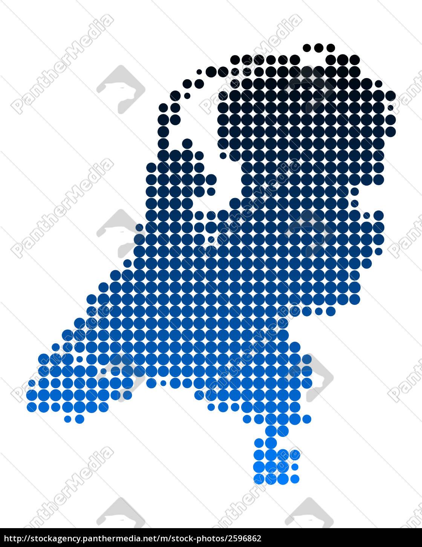 Karte Von Holland Landkarte Niederlande.Stock Photo 2596862 Karte Der Niederlande