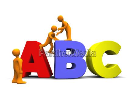 cartoon abc 3d