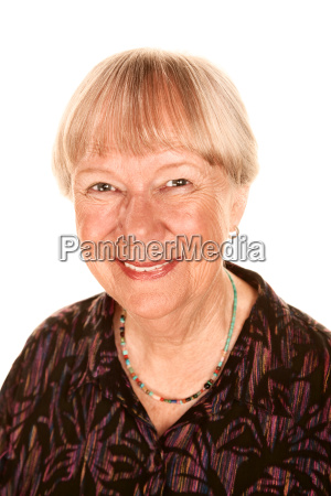 pretty senior woman