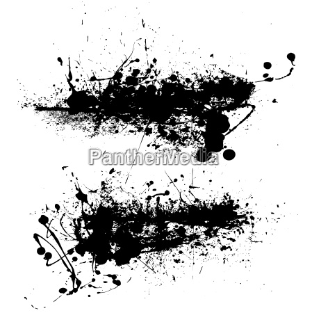 black grunge border splat