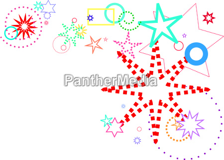 stars design colorful elements