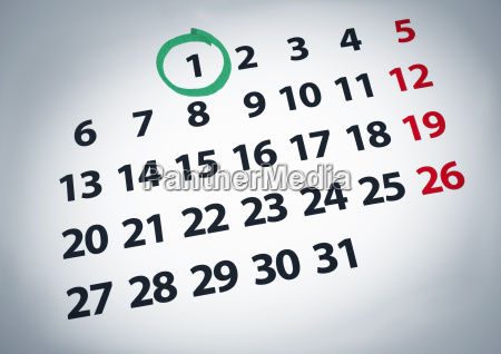 datum an dem ersten