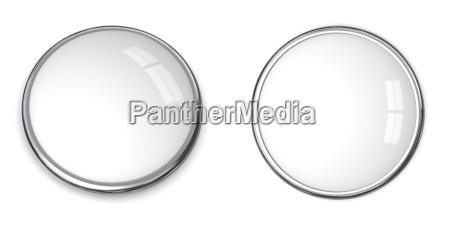 3d button solide weiss