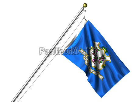 isolierte connecticut flagge