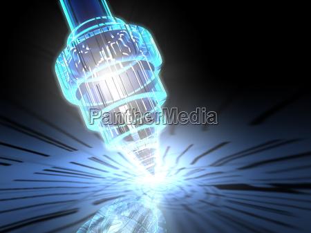 nano mikroskop abstrakt 3d