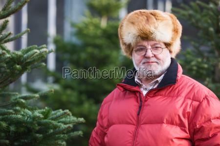 am weihnachtsbaummarkt