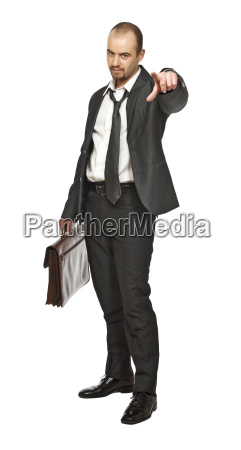 confident and tired businessman
