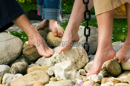 foot health on the stones
