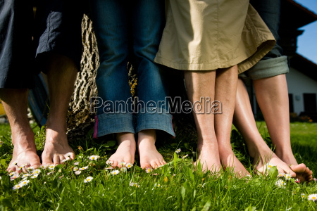healthy feet on the meadow