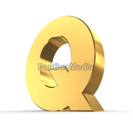 glaenzender brief q of gold