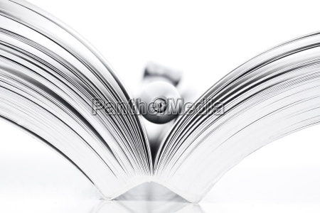 open book and pen