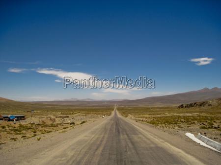 street in andes peru