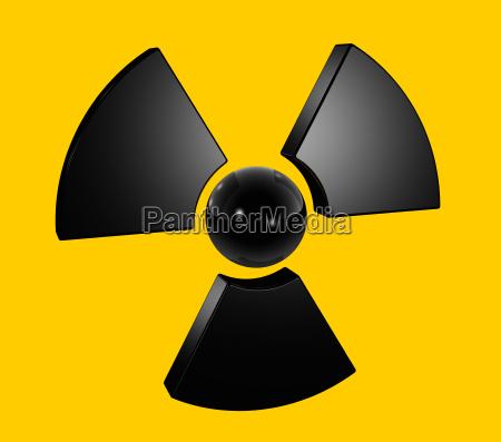 3d radioaktiven symbol