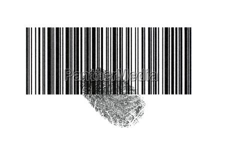 barcode mit fingerabdruck