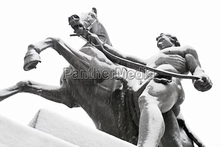 taming of horses public sculpture