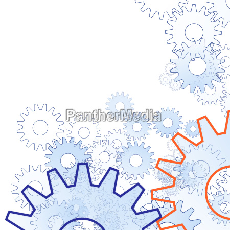 gears background copy space white