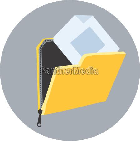 folder with data