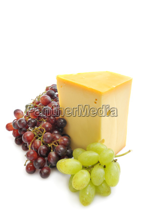 gouda and grapes