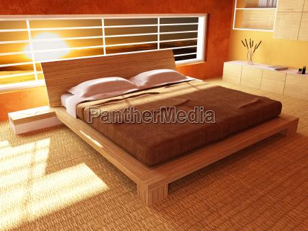 sonnenuntergang vom schlafzimmer