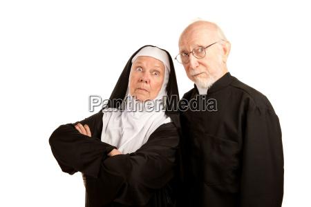 lustiger priester und nonne