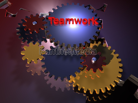 teamwork zahnrad 3d