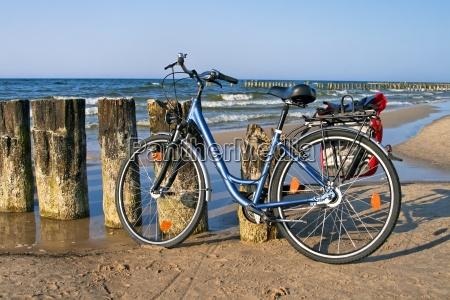 fahrrad und meer