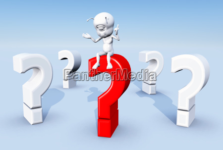 question mark with thinkers