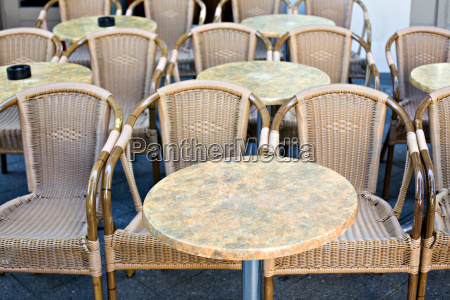empty wicker chairs