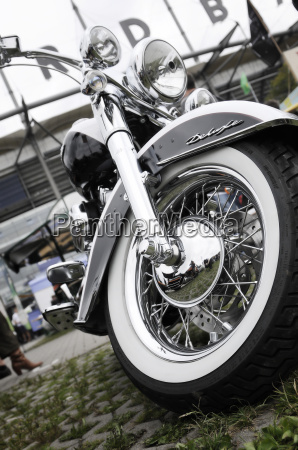 vorderteil eines motorrads klassischen