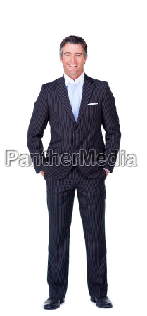 smiling businessman isolated on a white