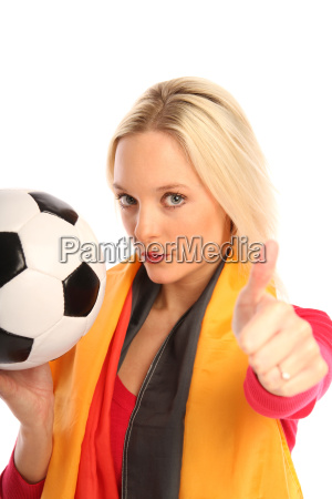 woman with soccer