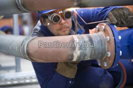 reparatur einer rohrleitung