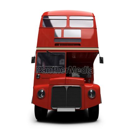 doppeldecker autobus over white