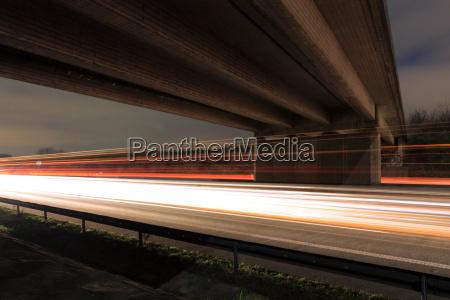 highway at night