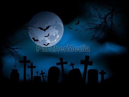 spooky friedhof