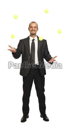 business play with yellow balls