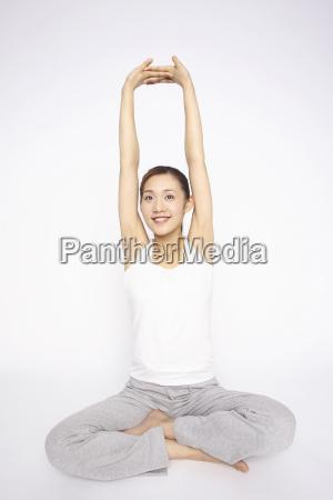 japanese woman stretching