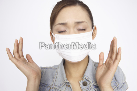 japanese woman caught a cold