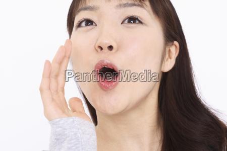 japanese woman shouting