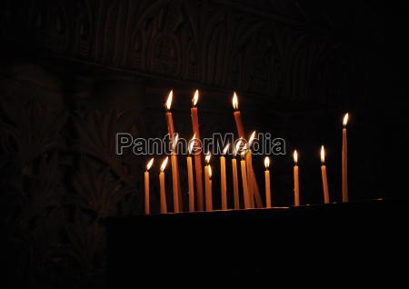 candles holy sepulcher